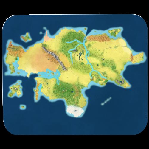 Arcadia Map - Mouse pad Horizontal