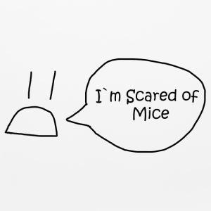 I`m Scared of Mice - Mouse pad Horizontal