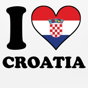 I Love Croatia Croatian Flag Heart - Mouse pad Horizontal
