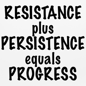 Resistance Plus Persistence Equals Progress - Mouse pad Horizontal
