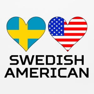 Swedish American Hearts - Mouse pad Horizontal