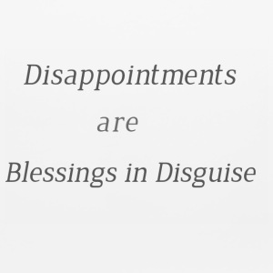 Disappointments are blessings in disguise - Mouse pad Horizontal