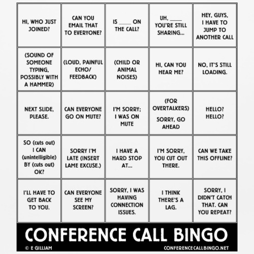 Conference Call Bingo Mousepad - Mouse pad Horizontal