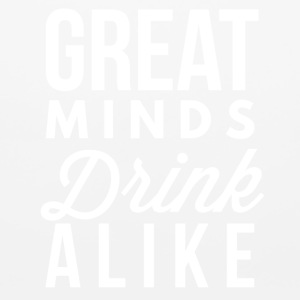 Great minds drink alike - Mouse pad Horizontal