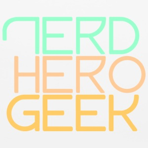 Nerd hero geek pastel - Mouse pad Horizontal