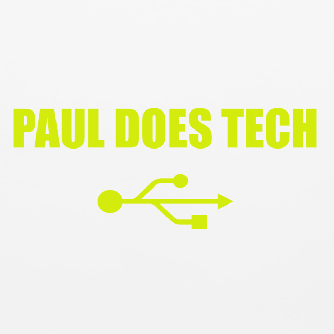 Paul Does Tech Yellow Logo With USB (MERCH)