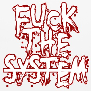 Fuck the system - Mouse pad Horizontal