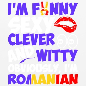 Im Funny Sexy Clever And Witty Im Romanian - Mouse pad Horizontal