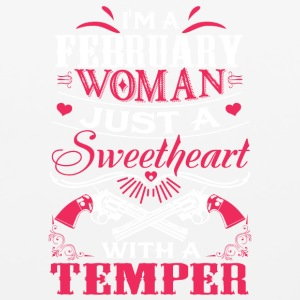 I'm a february woman Just a sweetheart with a temp - Mouse pad Horizontal