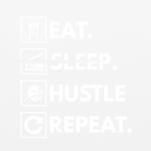 Eat sleep hustle repeat - Mouse pad Horizontal