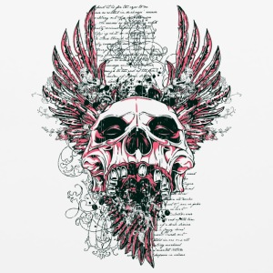 skull with wings and letter - Mouse pad Horizontal