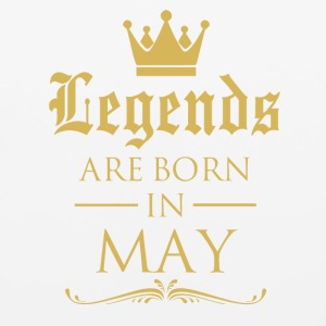 LEGENDS ARE BORN IN MAY - Mouse pad Horizontal