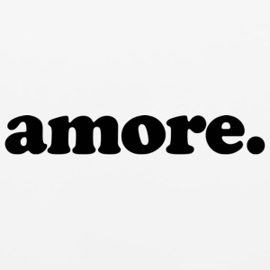 Amore - Fun Design (Black Letters) - Mouse pad Horizontal