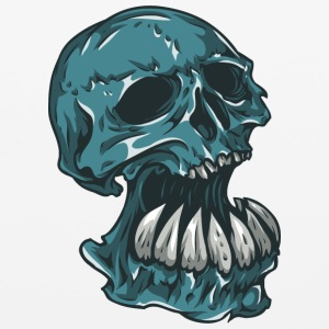 skull_with_hude_theeth - Mouse pad Horizontal