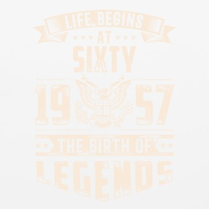 Life Begins At Sixty The Birth Of Legends tshirt - Mouse pad Horizontal