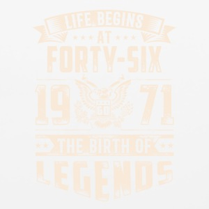 Life Begins At Forty Six Tshirt - Mouse pad Horizontal