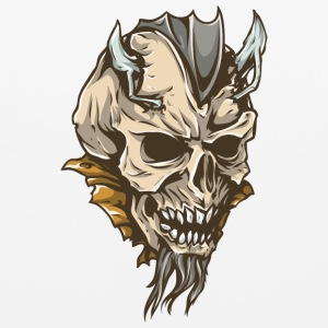 demon_skull_with_beard - Mouse pad Horizontal