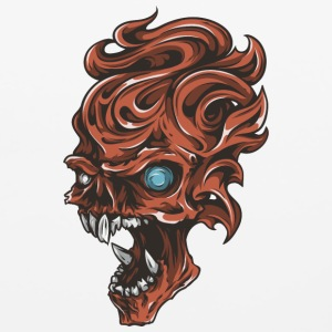 red_angry_fantasy_skull - Mouse pad Horizontal