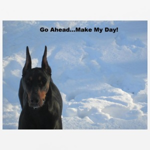 Doberman Go Ahead Make My Day T shirt - Mouse pad Horizontal