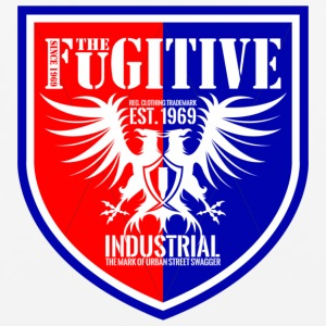 FUGITIVE BADGE RED AND ROYAL - Mouse pad Horizontal