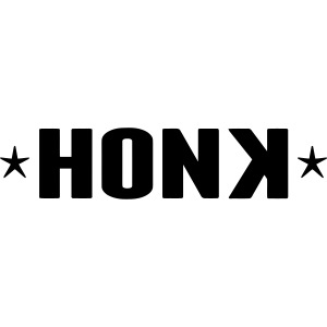 Honk White Letters