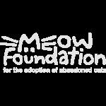 MEOW Foundation - White Logo + Tagline