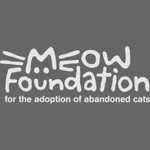 MEOW Foundation White Logo Tagline