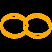 wedding rings - like a symbol of infinity