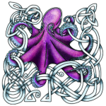 Celtic Octopus - Purple