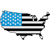 American Flag USA Shape