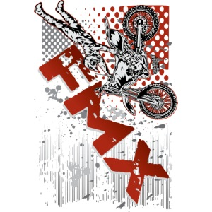 FMX Dirt Biker Red