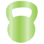 Kettlebell Green Halftone