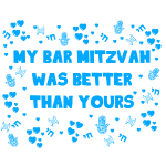 bar mitzvah blue