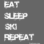 Eat Sleep Ski Repeat - TC - wb