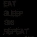 Eat Sleep Ski Repeat TC B
