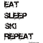 Eat Sleep Ski Repeat TC bw