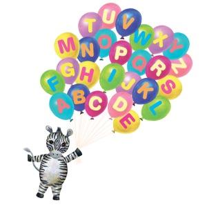 Balloons Zebra