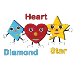 Diamond, Heart, Star