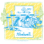 PonyFall blue yellow Thelwell Cartoon
