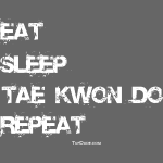 Eat Sleep Tae Kwon Do Repeat