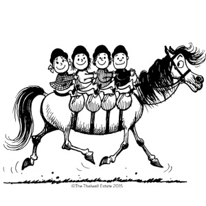 Gang of four Thelwell Cartoon