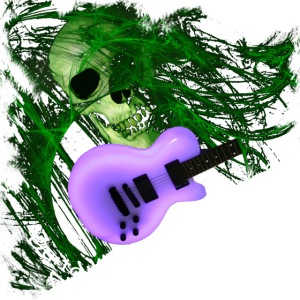 GlowGuitarSkull by GuitarLoversCustomTees png