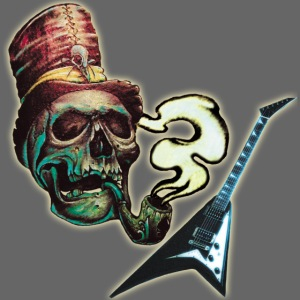 GuitarSmokingSkullLogo by GuitarLoversCustomTees p