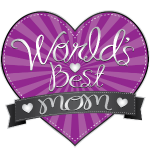 World's Best Mom Purple Heart