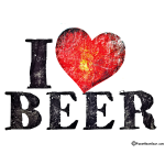 I Love Beer Distressed