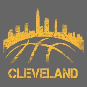 Cleveland Basketball Skyline