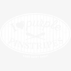 Purple Pinstripes - White