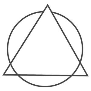 triangulo sem clown cinza png