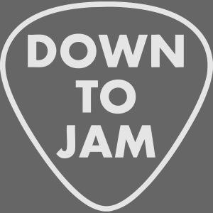 DownToJam white logo noTM