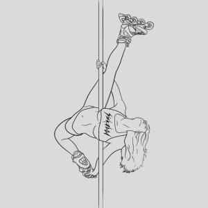 rollerblade stripper pole